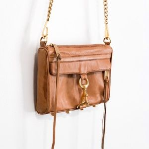 Rebecca minkoff brown leather mini Mac crossbody